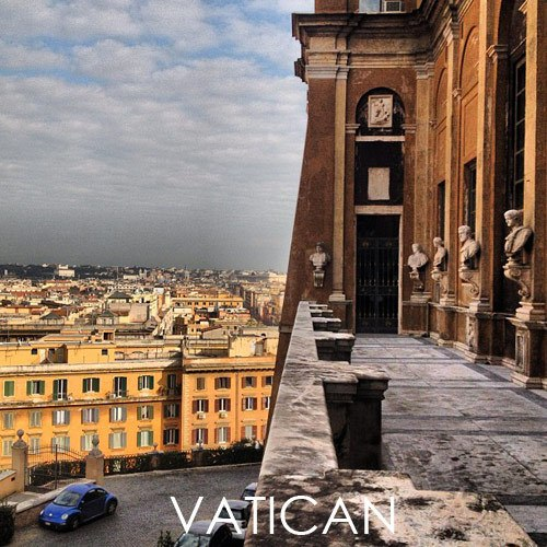 Vatican private VIP balcony. Travel photo by Katja Presnal, travel blogger on Instagram