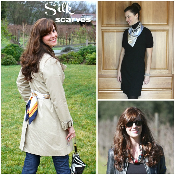 Silk Scarf Looks