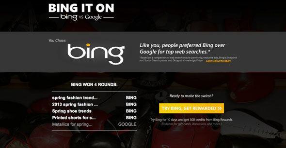 Bing it on test