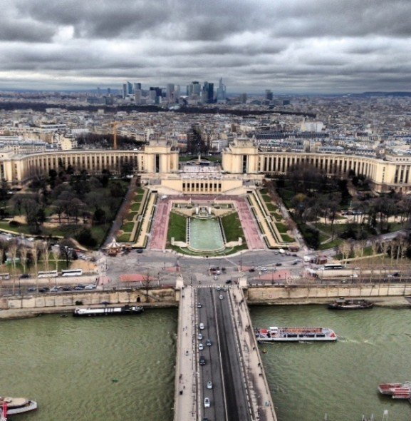 View of Jardin du Trocadero from the Summit of the Eiffel Tower