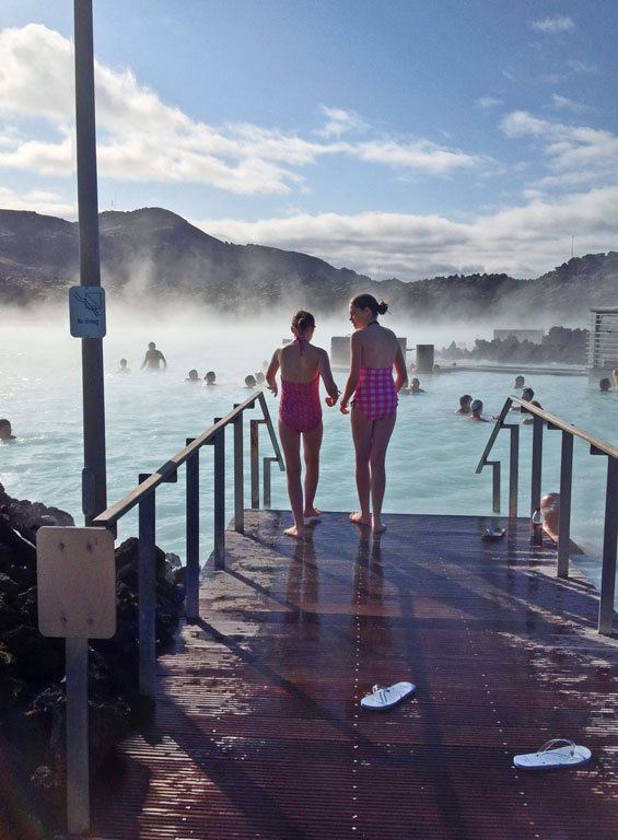 swimming in Blue Lagoon in Iceland