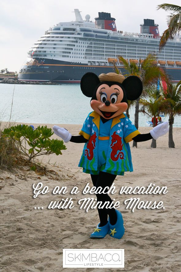 Bucket list: beach vacation with Minnie Mouse