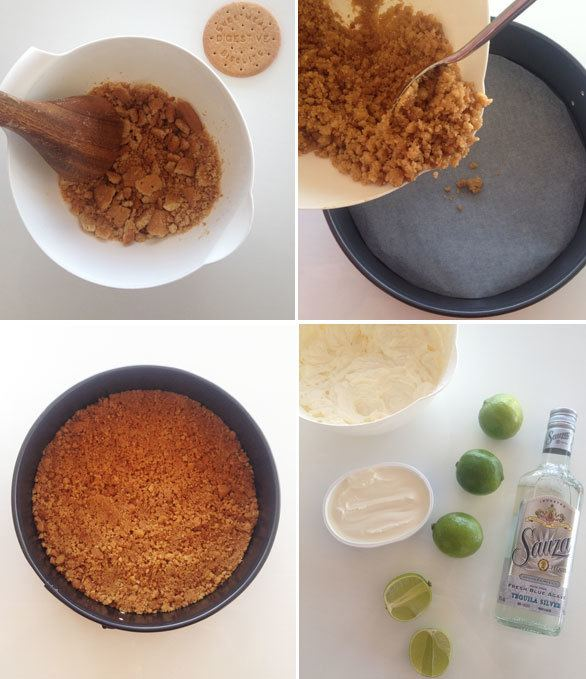 lime cheese cake instructions