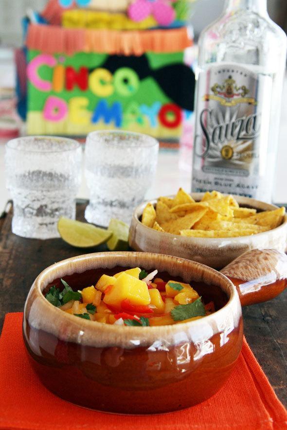 Mango salsa for Cinco de Mayo
