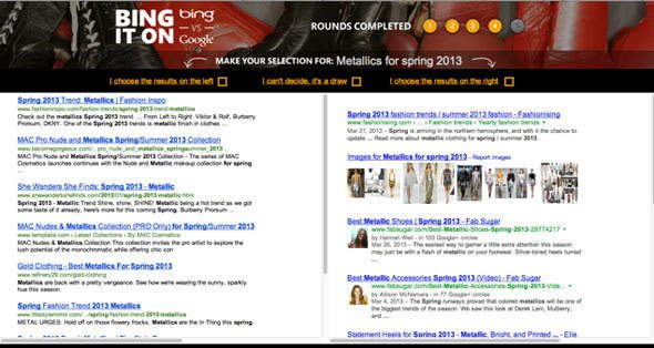 metallics-for-spring, bing, bing it on, microsoft, search results