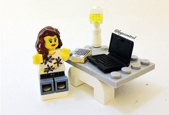 Lego figure with computer, photo by @legocontrol via http://instagram.com/legocontrol