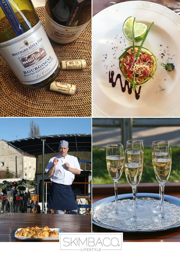 Indulge with food and wine on the European Waterways river cruises in Burgundy, France