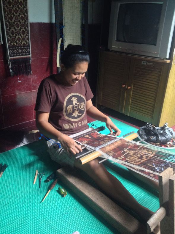 Balinese Ikat weaving