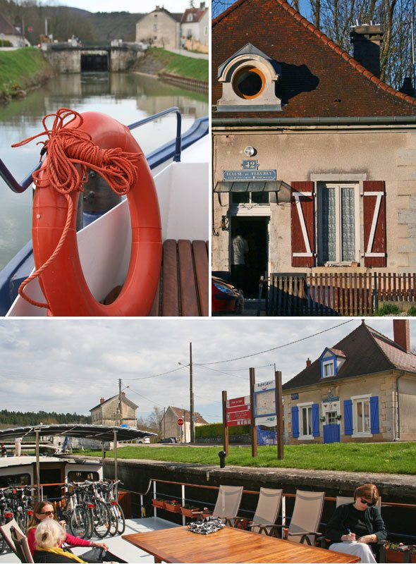 River cruise in Burgundy, France