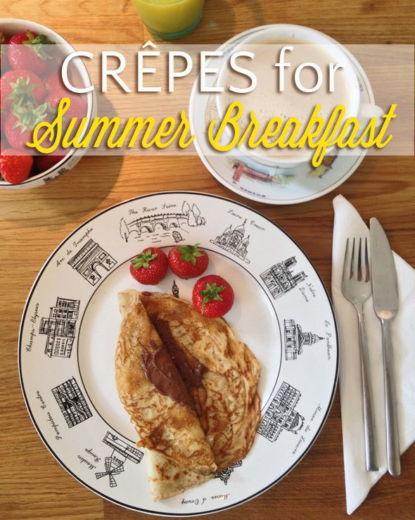 Crêpes for breakfast