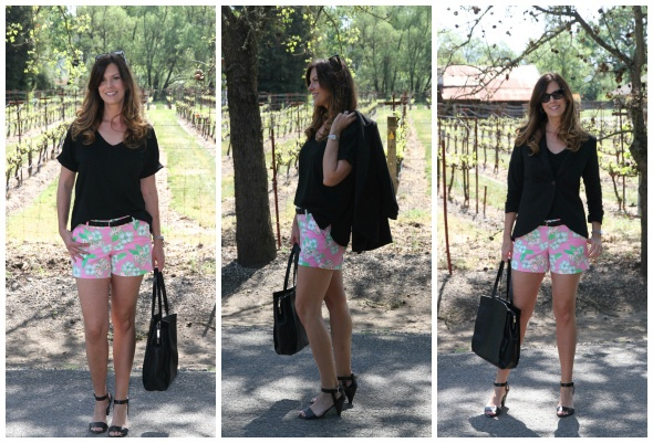 Lily Pulitzer Shorts with black