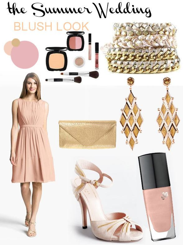 Summer wedding: blush look