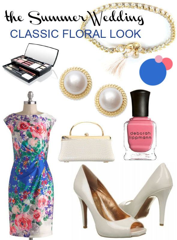 Summer wedding look: classic floral