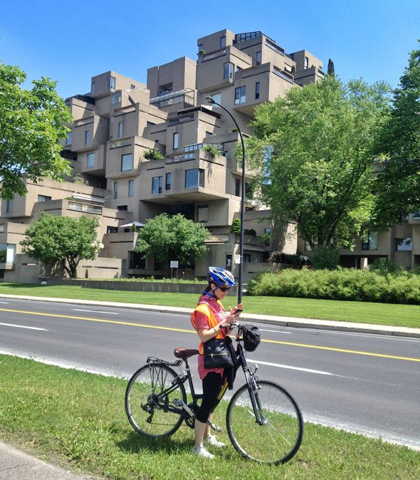 Habitat 67 ( Moshe Safdie) as seen on https://www.skimbacolifestyle.com/2013/07/montreal-bike-tour.html