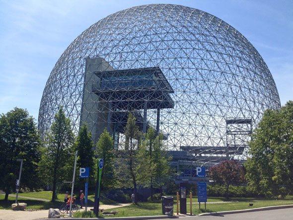 Montreal Biosphère, read more at https://www.skimbacolifestyle.com/2013/07/montreal-bike-tour.html