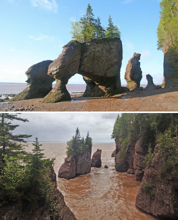 bay of Fundy, Hopewell Rocks in Canada. Travel photo by @katjapresnal