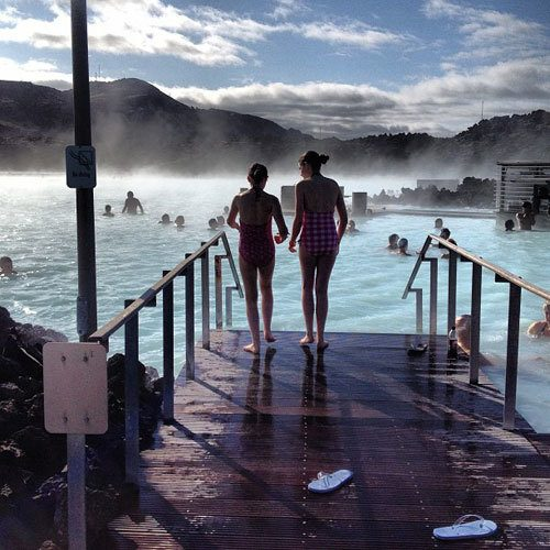 Blue Lagoon in Iceland. Instagram travel photo by @skimbaco