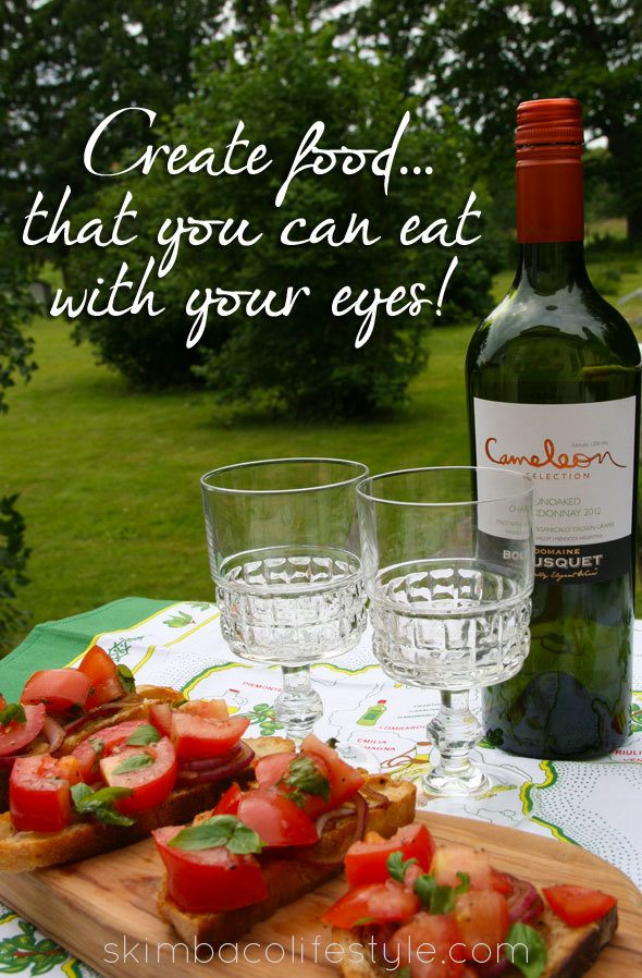 Create food that you can eat with your eyes via https://www.skimbacolifestyle.com/2013/07/ways-to-enjoy-food-more.html