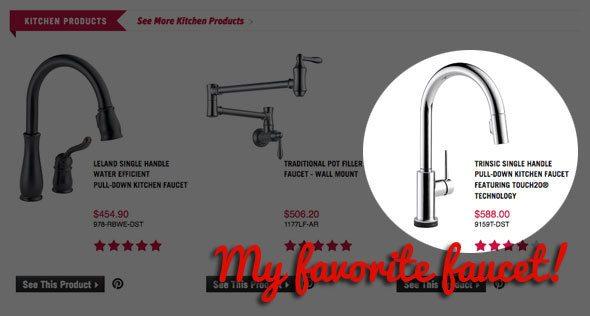 delta faucet - editor's pick!