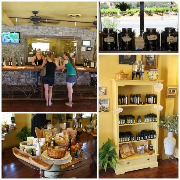Inside of Figone Olive Oil Company in Sonoma Valley