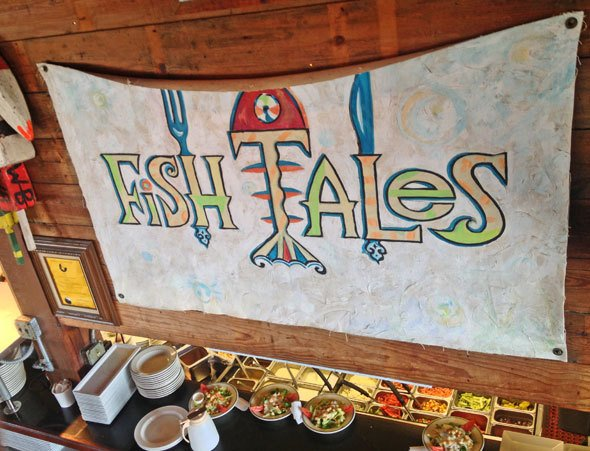 Fishtales restaurant in Galveston, Texas.