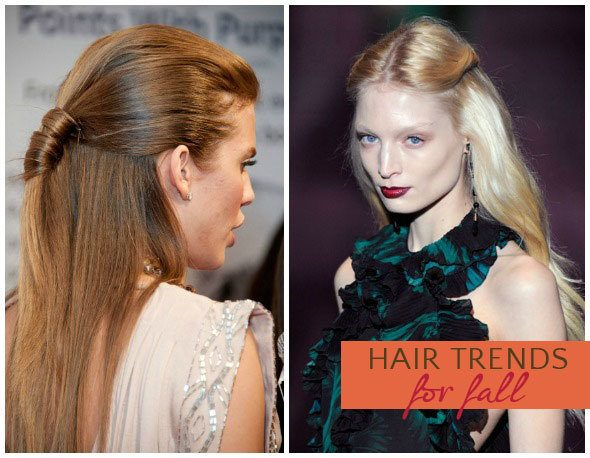 Fall 2013 hair trend: half up, half down