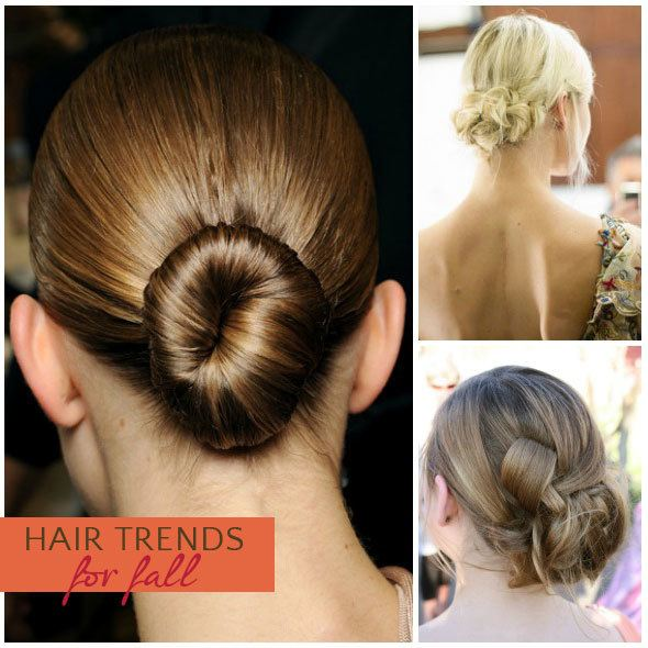 Fall hair style: low bun