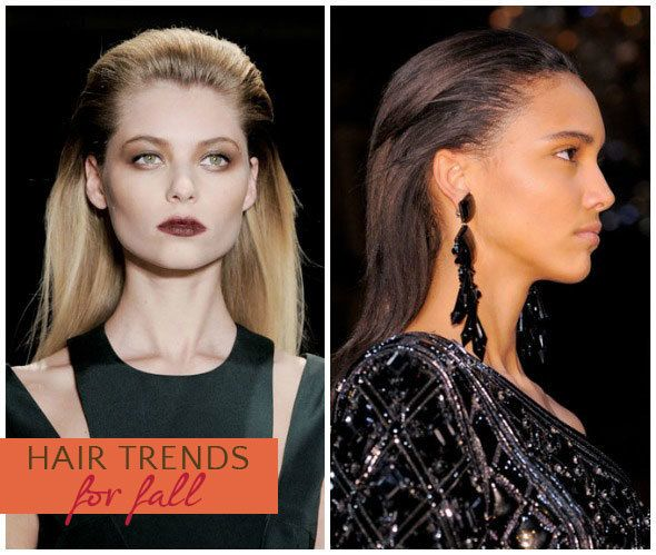 Fall Hairstyles: Slicked Back