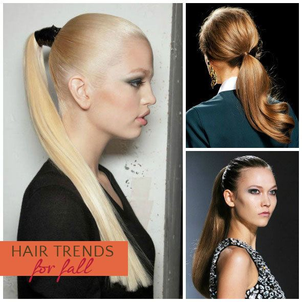 Hot hair trends for fall: ponytail