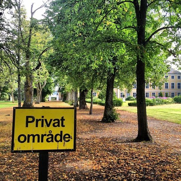 Private area sign