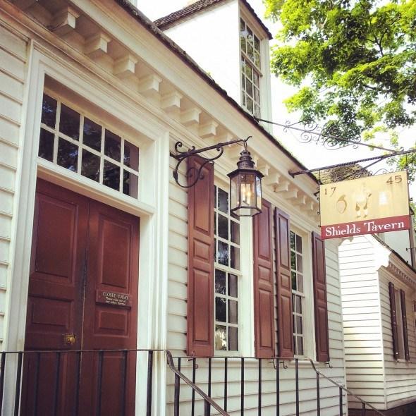 Shield's Tavern in Williamsburg, VA