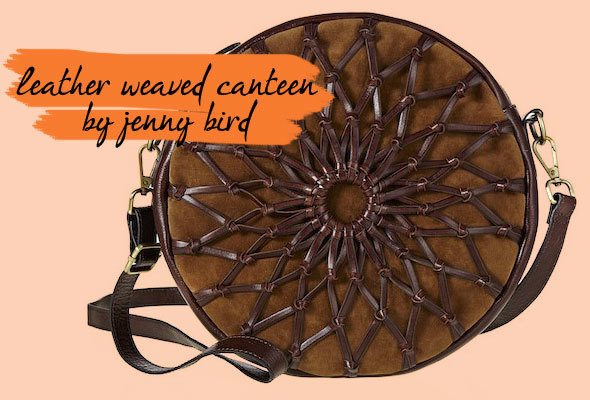 Letaher weaved canteen bag by Jenny Bird