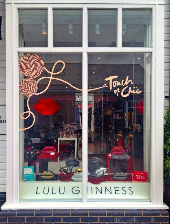 lulu-guinness-store-window-at-Kildare-Village