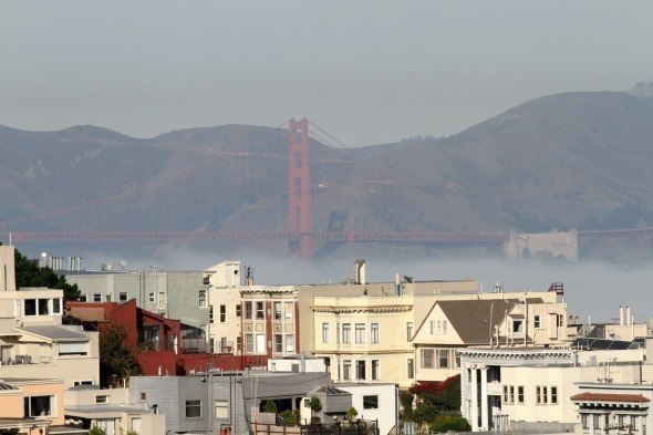 Golden Gate Bridge from The Fairmont San Francisco