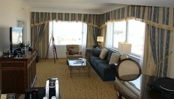 Living Room at the Flood Suite at The Fairmont San Francisco