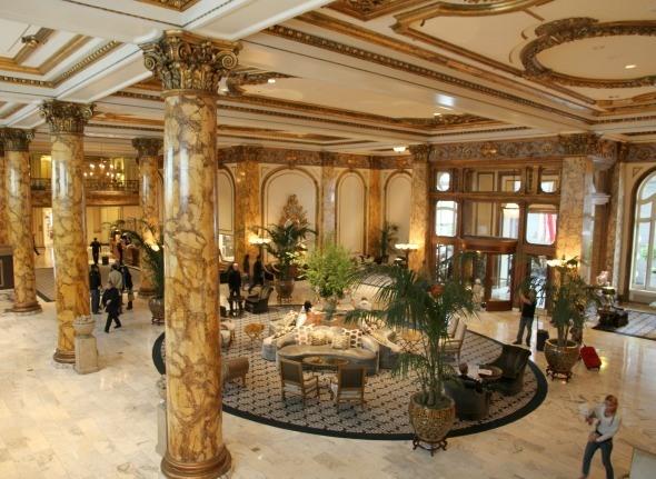 Main Lobby at The Fairmont San Francisco