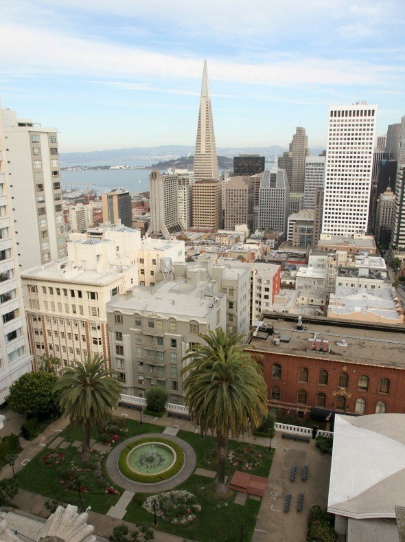 Rooftop View from the Penthouse Suite at The Fairmont in San Francisco