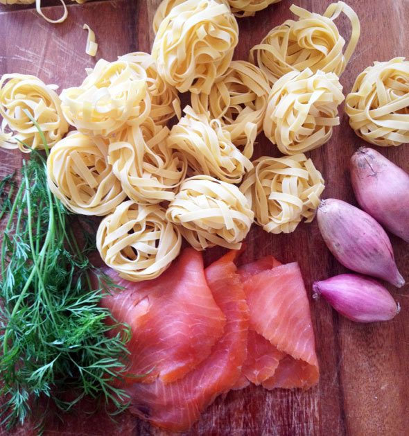super easy salmon pasta recipe