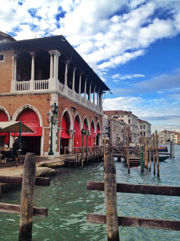 Fish market in Venice as seen in the movie The Tourist. Photo by @katjapresnal