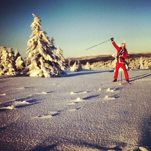 Skiing with Santa Claus via Instagram I @SatuVW I To Destination Unknown