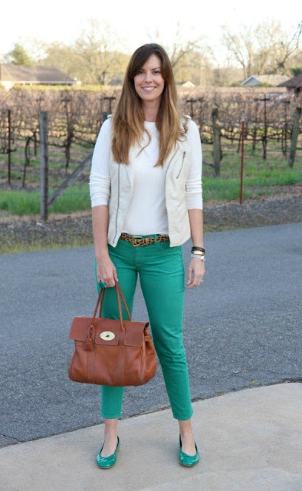 Casual Holiday Outfit with festive colors