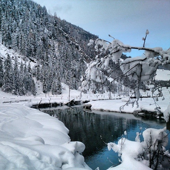 white christmas wonderland, photo from Austria by @travelita on Instagram