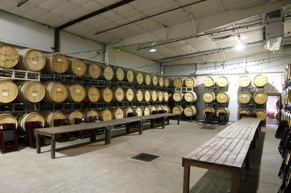 Adelaida Cellars Barrel Room