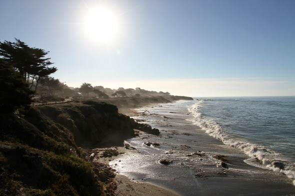 Moonstone Beach in Cambria, California