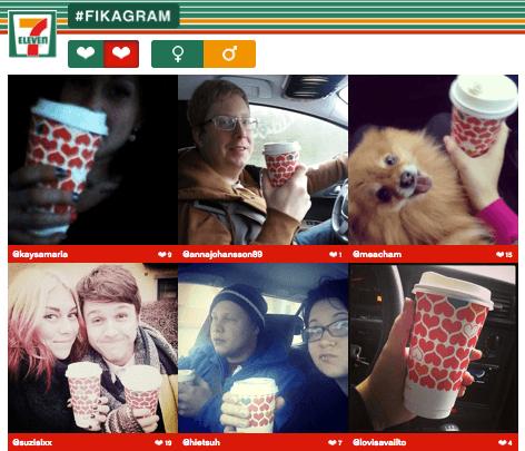 Fikagram Instagram campaign by 7-Eleven in Sweden