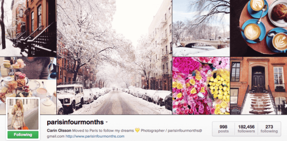 Featured Instagrammer in Paris: @parisinfourmonths