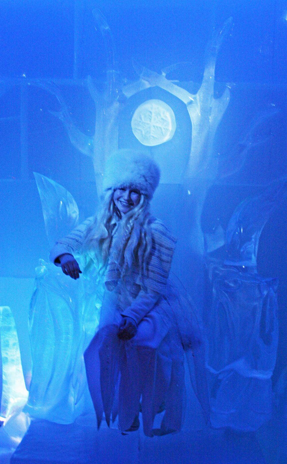 Ice Princess at SantaPark, Rovaniemi, Finland