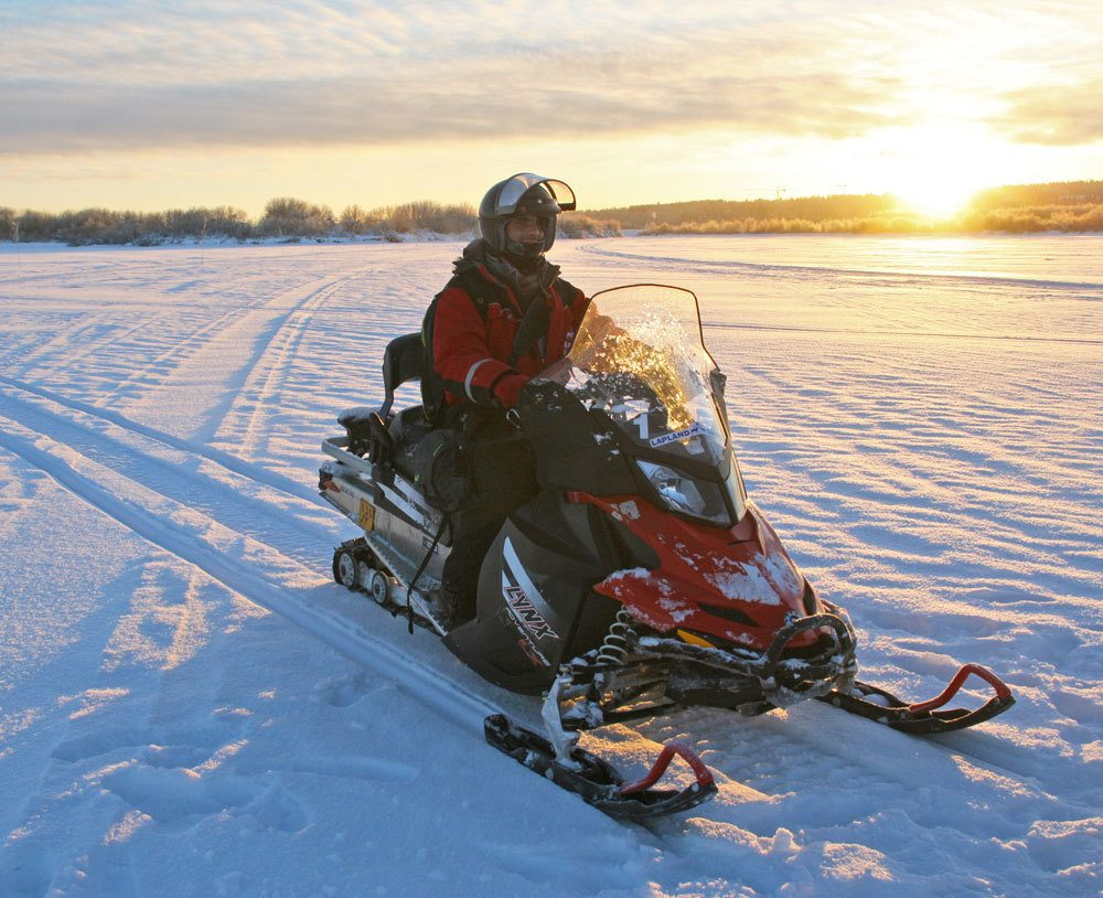 snowmobile adventure in Rovaniemi