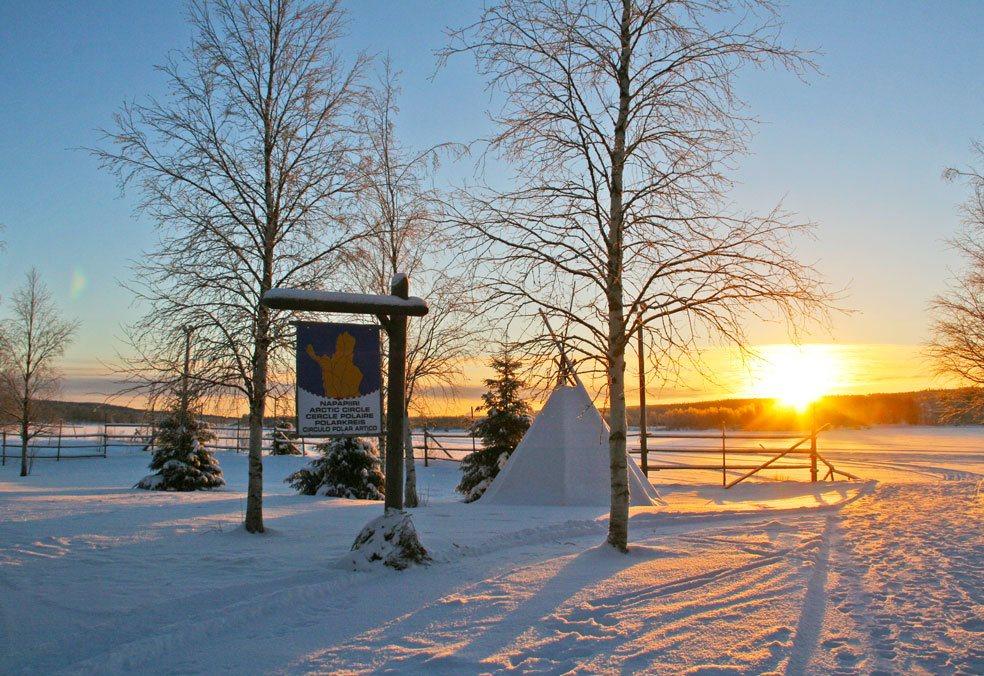 lapland sunset | arctic circle | rovaniemi