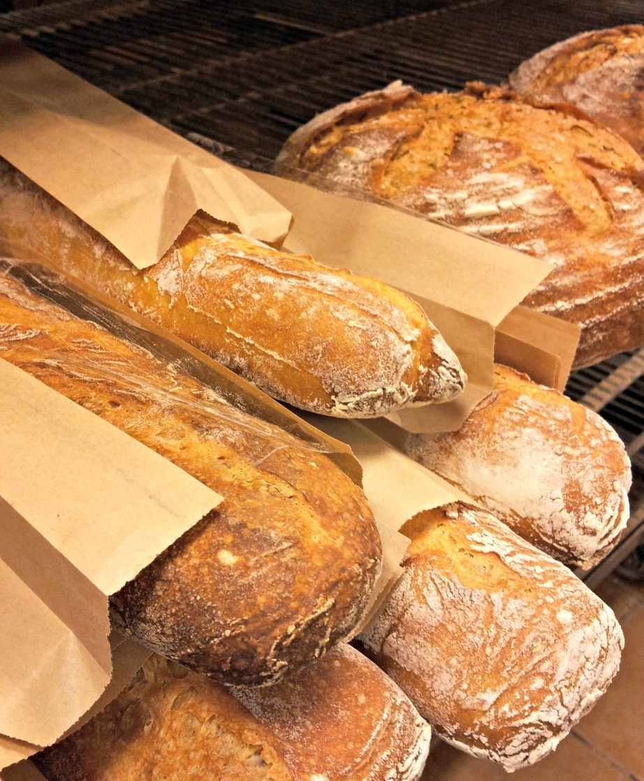 Homemade French Breads at La Farm Bakery in Cary, N.C.